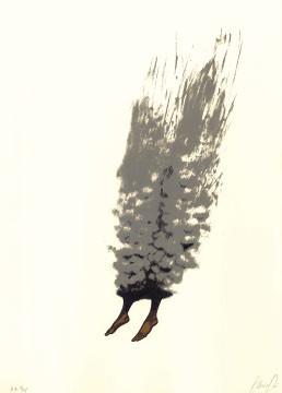 6.- El Bebedor de Lágrimas,  Serigrafía de  43 x 31 cms.