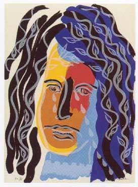 9.- El Cantar de los Cantares,  Serigrafía de  43 x 31 cms.