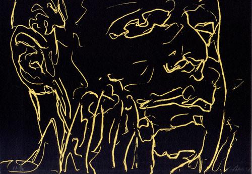 18.- Frankenstein,  Serigrafía de  43 x 31 cms.