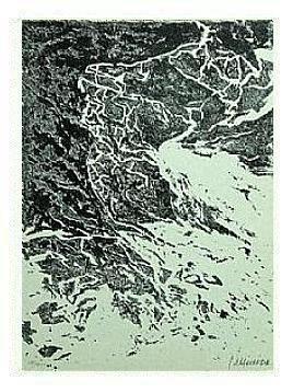 7.- Qué paz inmensa tu infinita guerra, Litografía, mancha 45,5 x 33 cm., soporte 45,5 x 33 cm.
