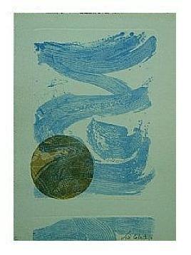 1.- Océana,  Litografía, mancha 47 x 34,5 cm., soporte 47 x 34,5 cm.
