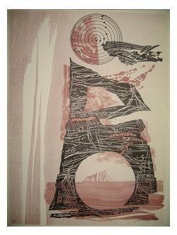 7.- Océana,  Litografía, mancha 47 x 34,5 cm., soporte 47 x 34,5 cm.