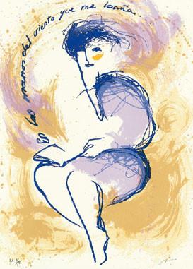 9.- Silvia Viñao,  Serigrafía de  43 x 31 cms.