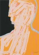 7.- La iluminada rosa negra,  Serigrafía de  43 x 31 cms.