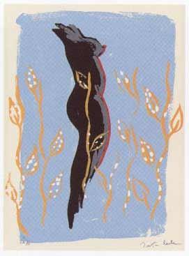 2.- El Cantar de los Cantares,  Serigrafía de  43 x 31 cms.
