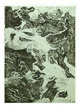 2.- Tú eres sólo el más solo de lo todo, Litografía, mancha 45,5 x 33 cm., soporte 45,5 x 33 cm.