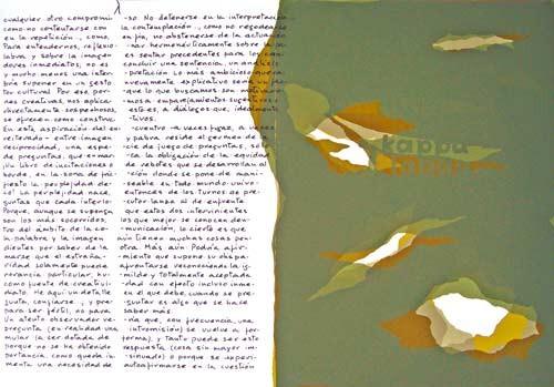 10.- Topología hermenéutica, o bien hermenéutica topológica, Serigrafía de  43 x 31 cms.