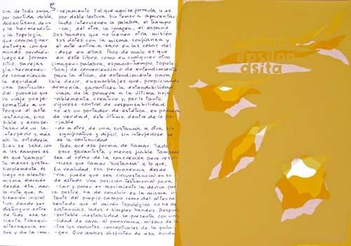 4.- Topología hermenéutica, o bien hermenéutica topológica, Serigrafía de  43 x 31 cms.