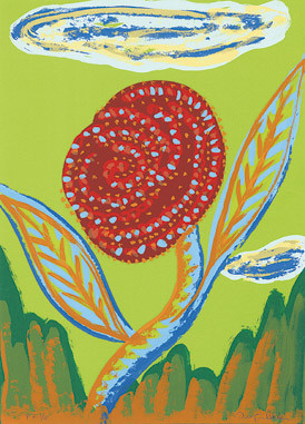 15.- Floraleza,  Serigrafía de  43 x 31 cms.