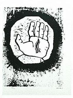 9.- Oh, regalada llaga, Litografía, 49  x 35 cm., soporte 49 x 35 cm.