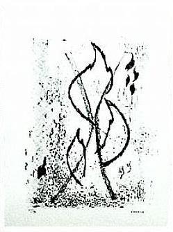 10.- Oh, lámparas de fuego, Litografía, 49  x 35 cm., soporte 49 x 35 cm.