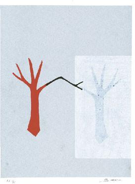 11.- Carmen Baena,  Serigrafía de  43 x 31 cms.