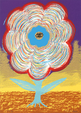 17.- Floraleza,  Serigrafía de  43 x 31 cms.