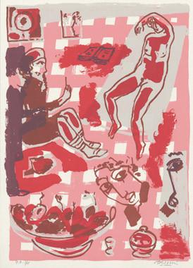 4.- La obra maestra desconocida, Serigrafía de  43 x 31 cms.
