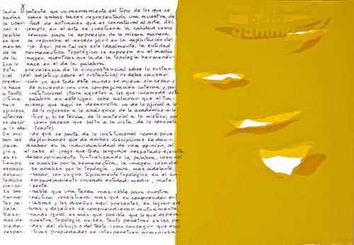 7.- Topología hermenéutica, o bien hermenéutica topológica, Serigrafía de  43 x 31 cms.