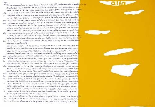 1.- Topología hermenéutica, o bien hermenéutica topológica, Serigrafía de  43 x 31 cms.