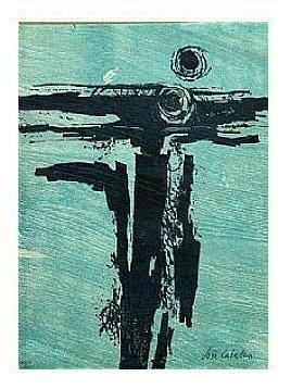 3.- Océana,  Litografía, mancha 47 x 34,5 cm., soporte 47 x 34,5 cm.