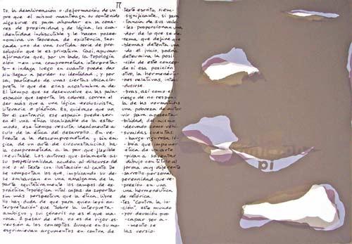 15.- Topología hermenéutica, o bien hermenéutica topológica, Serigrafía de  43 x 31 cms.