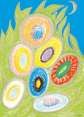 12.- Floraleza,  Serigrafía de  43 x 31 cms.