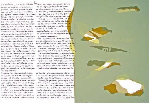 11.- Topología hermenéutica, o bien hermenéutica topológica, Serigrafía de  43 x 31 cms.