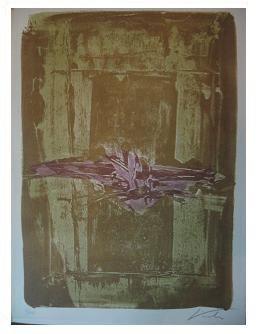1.- Casida del herido por el agua,  Litografía, mancha 41,8 x 30,7 cm., soporte 45,3 x 33,4 cm.