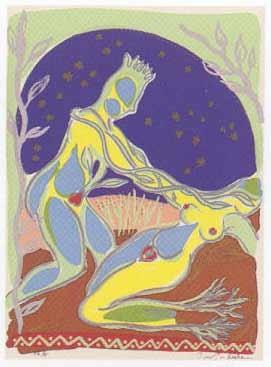 13.- El Cantar de los Cantares,  Serigrafía de  43 x 31 cms.