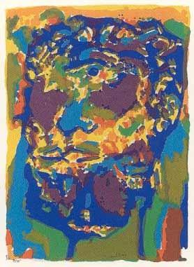 19.- Muher (Marte),  Serigrafía de  43 x 31 cms.