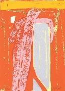 1.- La iluminada rosa negra,  Serigrafía de  43 x 31 cms.