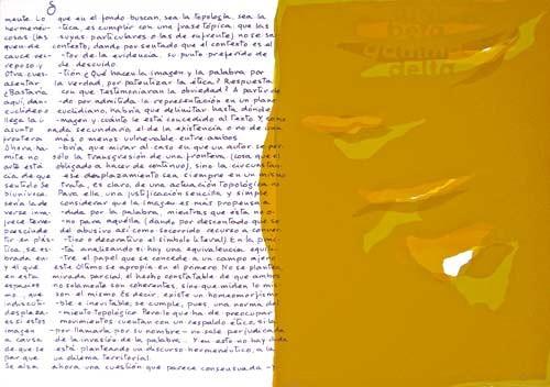 3.- Topología hermenéutica, o bien hermenéutica topológica, Serigrafía de  43 x 31 cms.