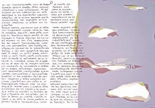 14.- Topología hermenéutica, o bien hermenéutica topológica, Serigrafía de  43 x 31 cms.