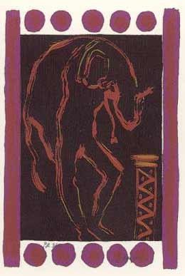 8.- Ignacio García (Saturno),  Serigrafía de  43 x 31 cms.