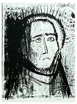 1.- Ecos y Éxtasis, Litografía, 49  x 35 cm., soporte 49 x 35 cm.