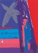 17.- La iluminada rosa negra,  Serigrafía de  43 x 31 cms.
