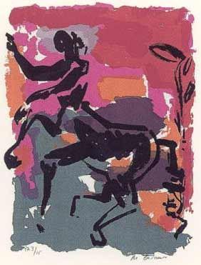 3.- Vicente Ruiz (Momo),  Serigrafía de  43 x 31 cms.