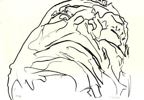 10.- Frankenstein,  Serigrafía de  43 x 31 cms.