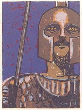 1.- Vicente Ruiz (Apolo),  Serigrafía de  43 x 31 cms.