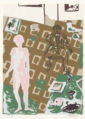 5.- La obra maestra desconocida, Serigrafía de  43 x 31 cms.