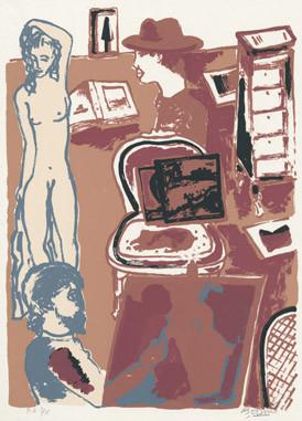 10.- La obra maestra desconocida, Serigrafía de  43 x 31 cms.