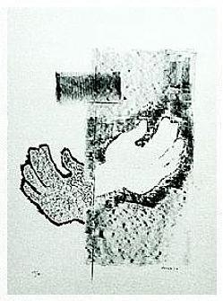 13.- Entreme donde no pude, Litografía, 49  x 35 cm., soporte 49 x 35 cm.