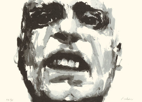 8.- Santiago Ydáñez,  Serigrafía de  43 x 31 cms.