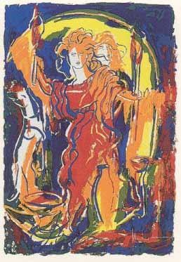 4.- Vicente Ruiz (Polifemo),  Serigrafía de  43 x 31 cms.