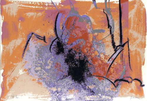 3.- Ojos azules,  Serigrafía de  43 x 31 cms.
