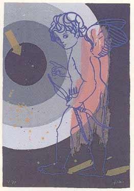 7.- Ignacio García (Morfeo),  Serigrafía de  43 x 31 cms.