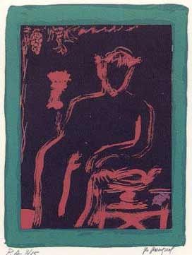 2.- Vicente Ruiz (Diana Cazadora),  Serigrafía de  43 x 31 cms.