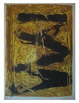 3.- Casida de los ramos, Litografía, mancha 41,8 x 30,7 cm., soporte 45,3 x 33,4 cm.