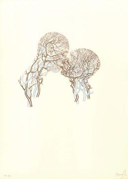 2.- El Bebedor de Lágrimas,  Serigrafía de  43 x 31 cms.