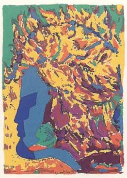24.- Manolo Belzunce (La Sardina),  Serigrafía de  43 x 31 cms.