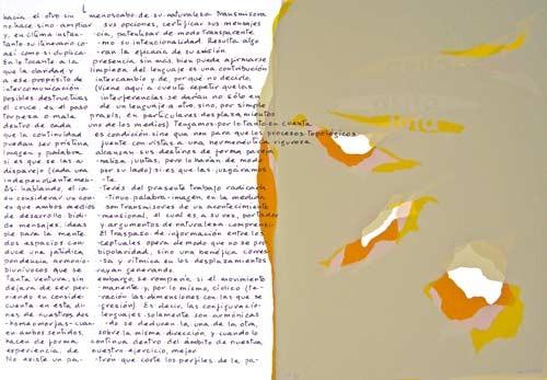 8.- Topología hermenéutica, o bien hermenéutica topológica, Serigrafía de  43 x 31 cms.