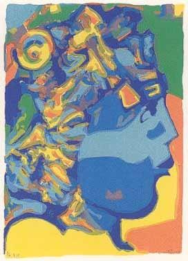 6.- Ignacio García (Eros),  Serigrafía de  43 x 31 cms.