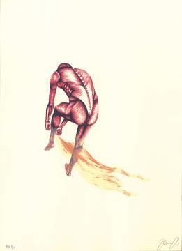 16.- El Bebedor de Lágrimas,  Serigrafía de  43 x 31 cms.